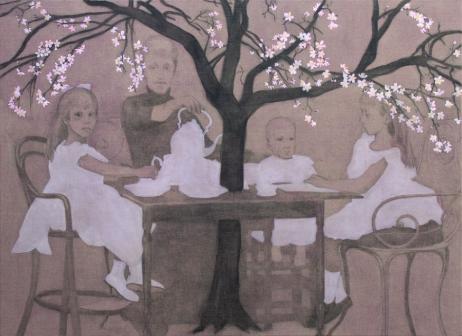 Black Tea and a Cherry Tree       160 x 220       Sold