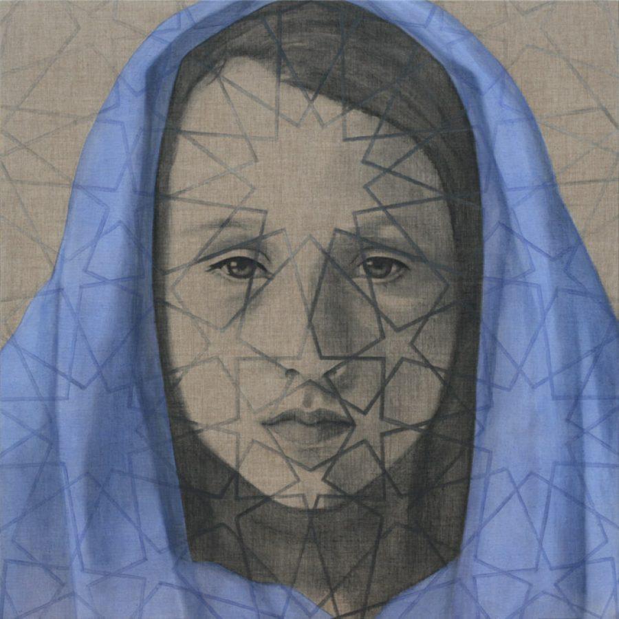 Van €4700,-- voor €2350,--, SUM #1, acryl op linnen 150 x 150 cm, 2011
