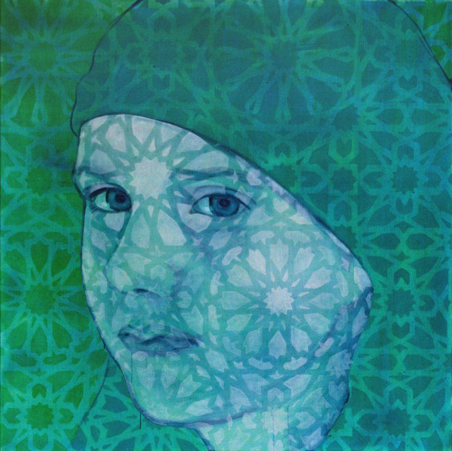 Van €4700,-- voor €2350,--, SUM #4, acryl en olieverf op linnen 150 x 150 cm, 2011