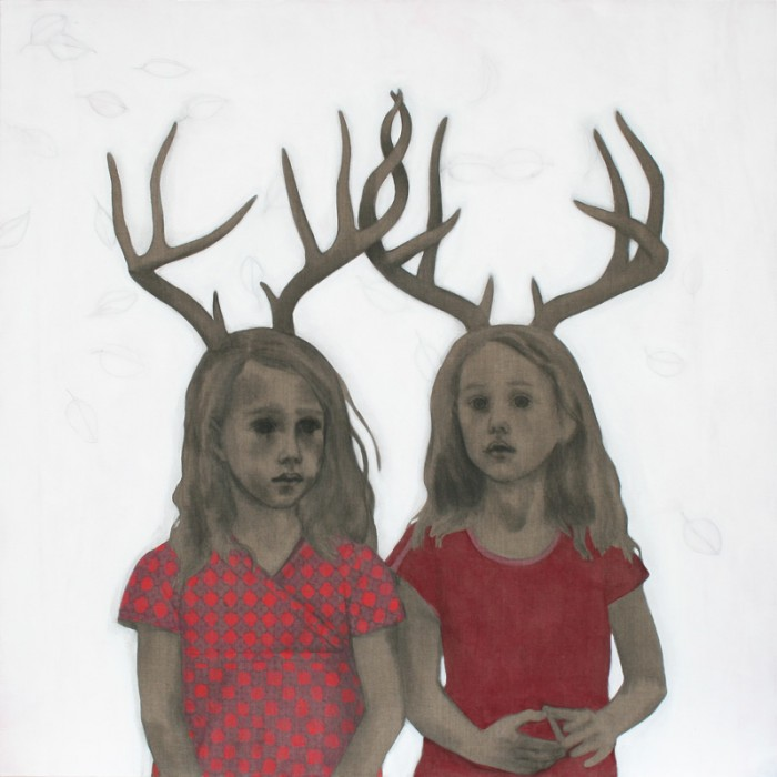 Zonder titel (twins) 140 x 140 cm
