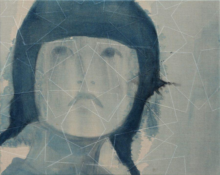 Van € 2700,-- voor € 1350,--.  Kivutar, 80 x 100 cm, acryl op linnen, 2011