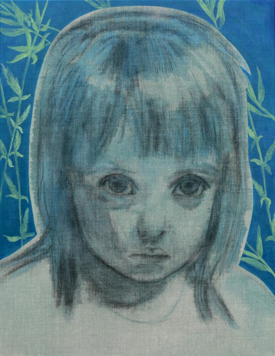 Van € 3400,-- voor € 1700,-- Willow (Bach), mixed media  |  130 x 100 cm, 2013