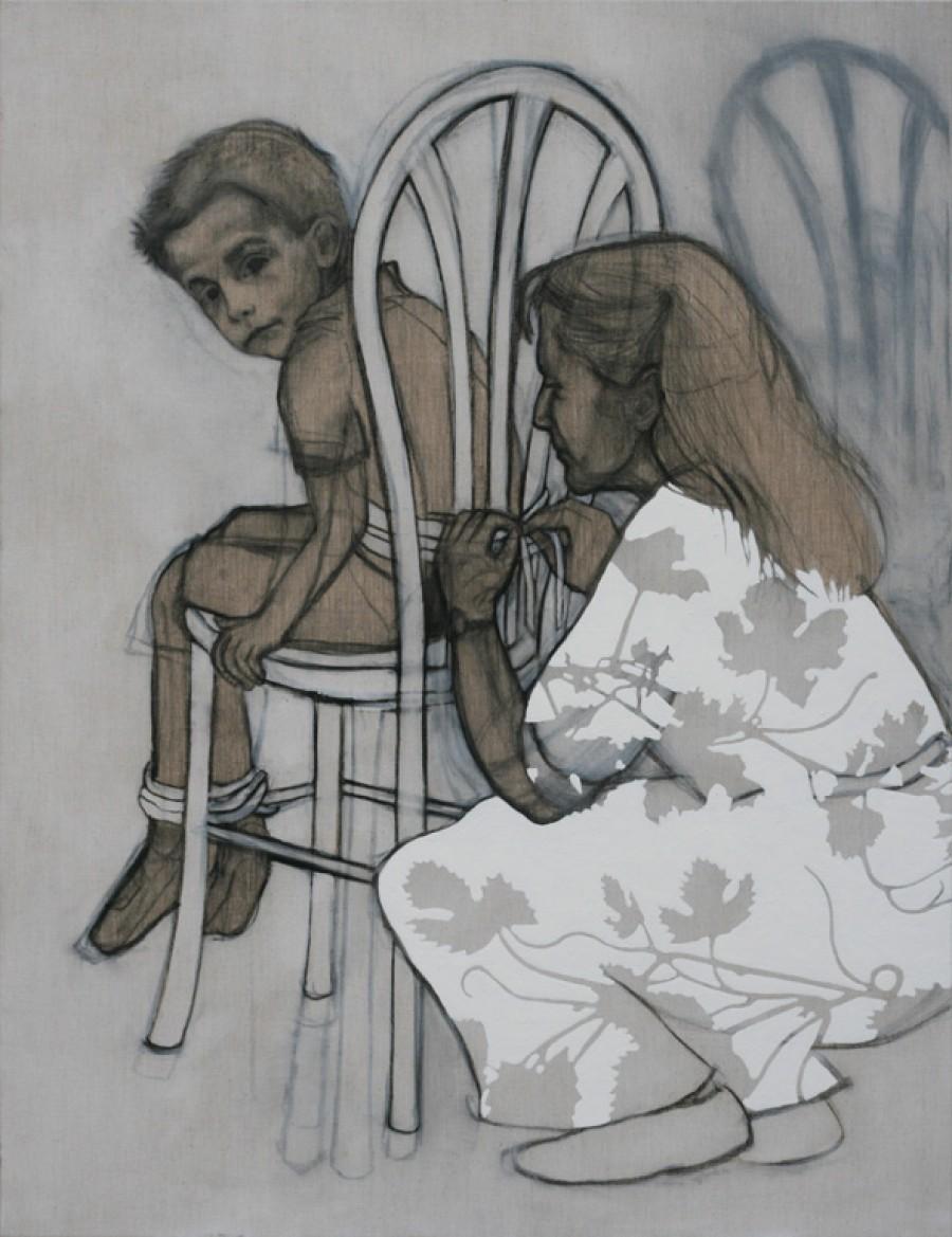 Van € 3400,-- voor € 1700,-- Vine (Bach), mixed media  |  130 x 100 cm, 2013