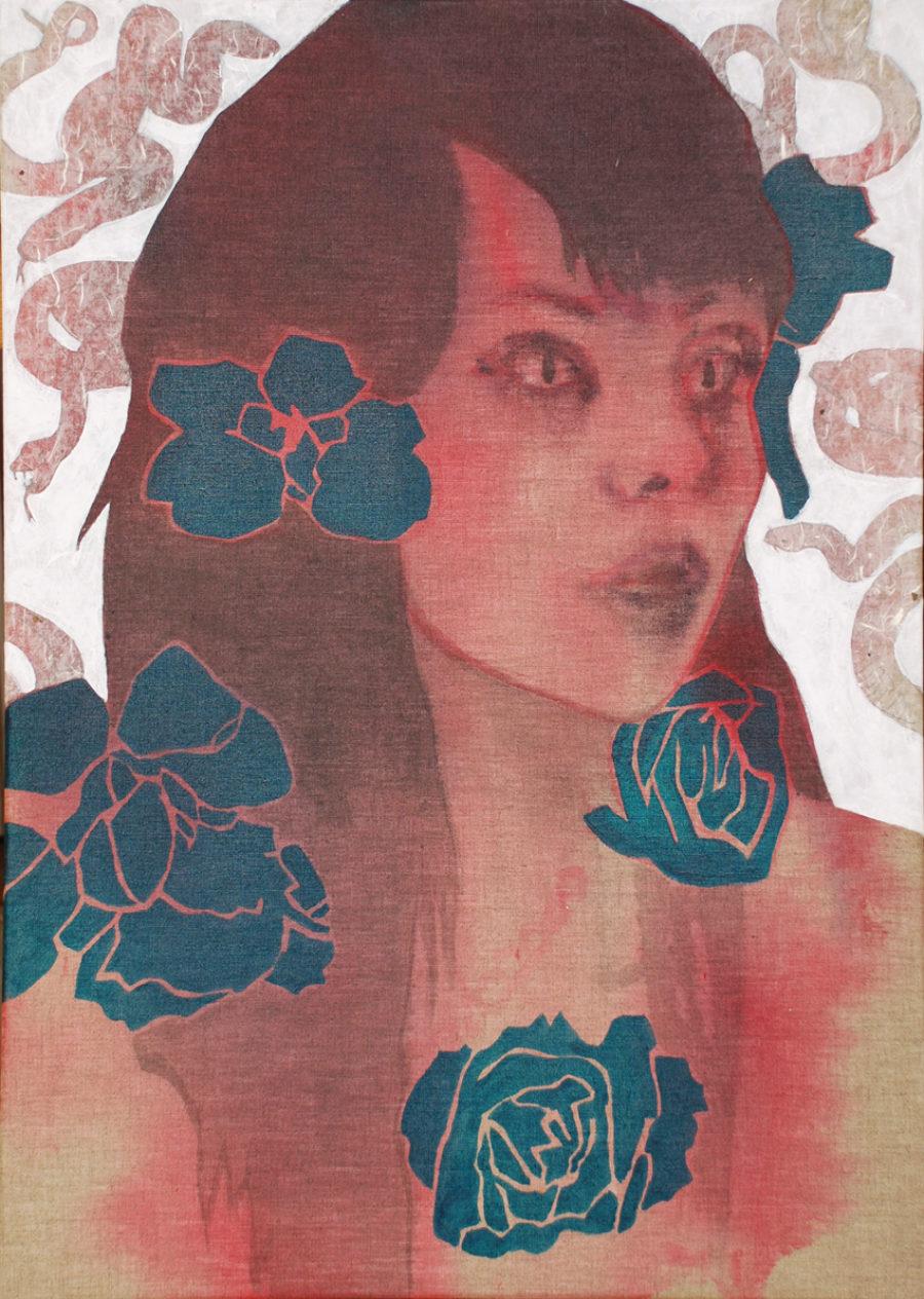 Van € 1900,- voor € 950,- Invidia (7 zonden: jaloezie)  |  70 x 50 cm  |  acryl op linnen, 2015
