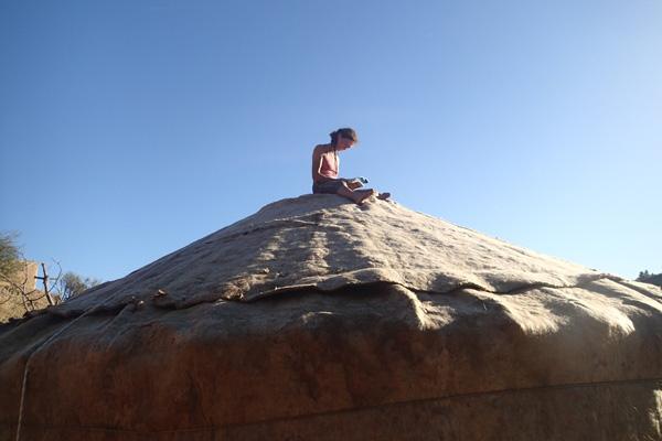 Opbouw van mijn yurt in Andalusië