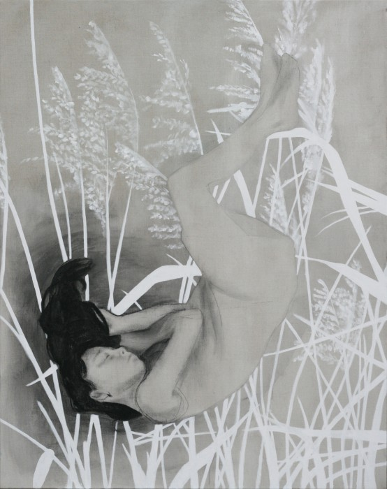 New Life #1 | 140 x 110 cm | charcoal, ink and acrylics on linen | available at Kunstuitleen Voorburg