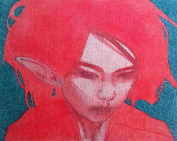Part-time fairy #6 | 80 x 100 cm | acrylics | available at HeArt Gallery Hengelo