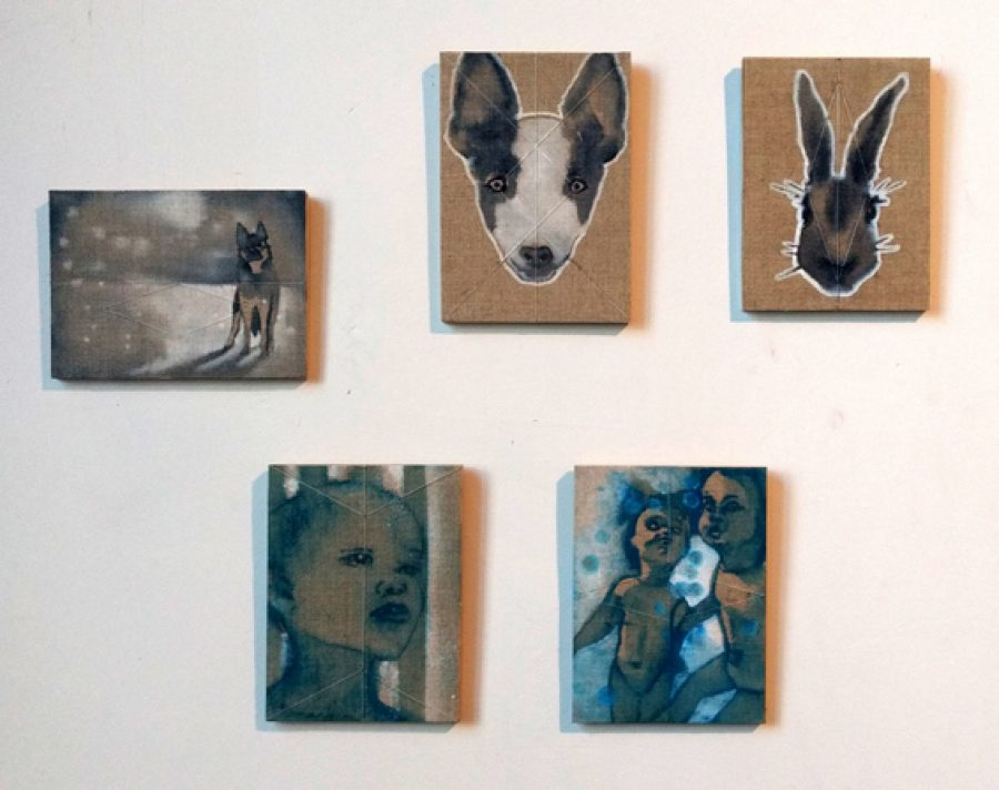 Please don't 1,2,3,4,5 Each approx 15 x 20 cm  Available at POP-UP, HeartPool Gallery Hengelo