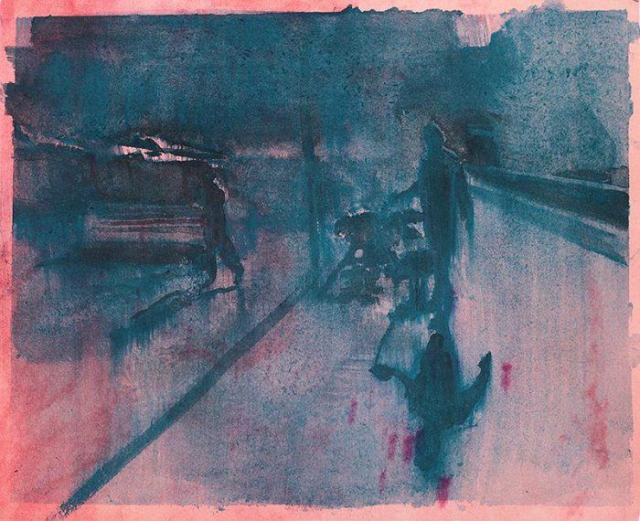 Walking The Dog In Malaga - 26,7 x 32,7 cm - available at Tekenkabinet