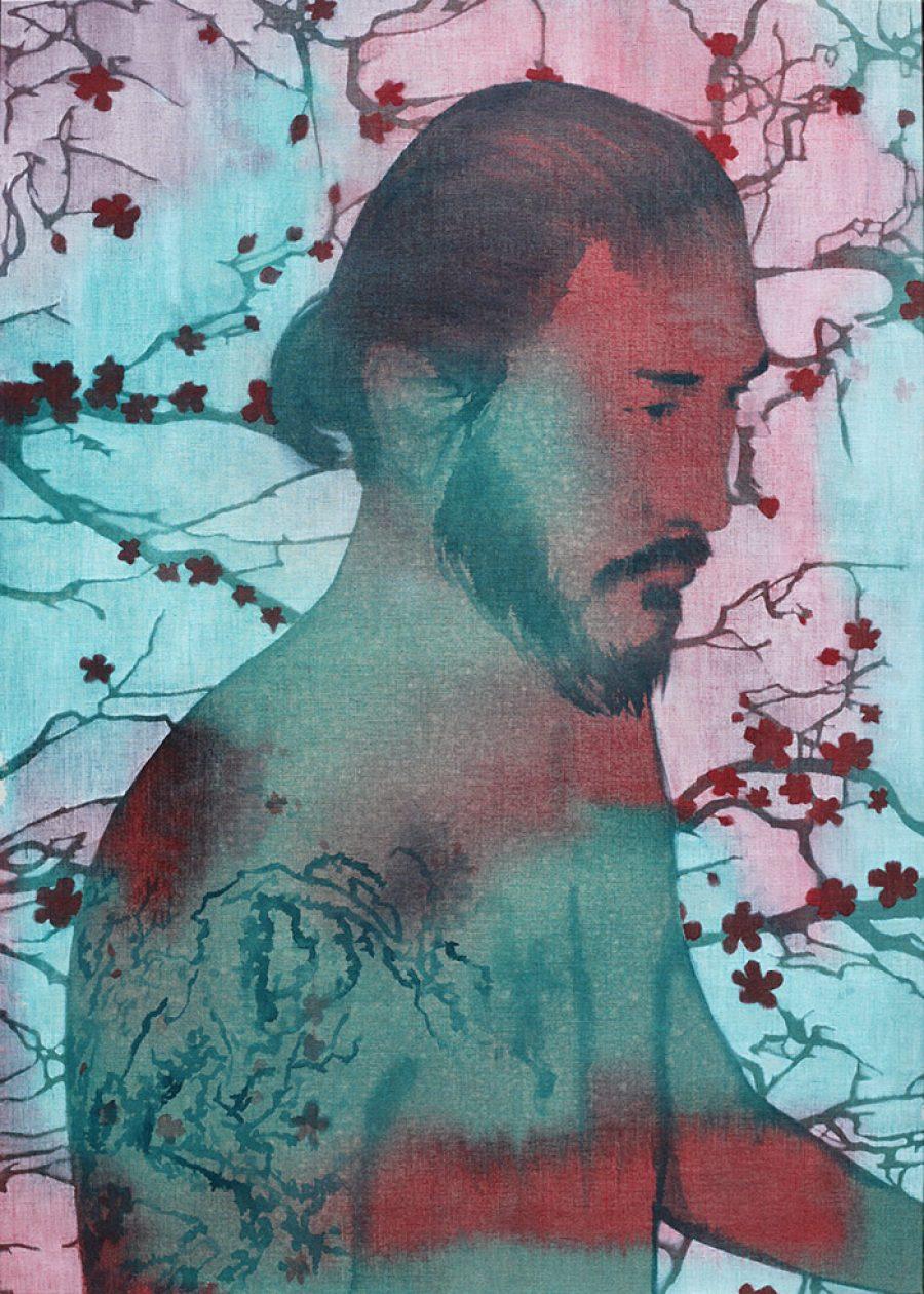 Cherry blossom    |    140 x 100 cm    |   kunstuitleen Voorburg